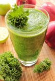 Smoothie with kale and apple royalty free stock photo