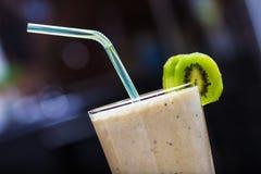 Smoothie with kiwi and banana Stock Photos