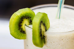 Smoothie with kiwi and banana Royalty Free Stock Images