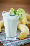 Smoothie with kiwi and banana Stock Photos