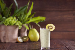 Smoothie with kiwi and pear Royalty Free Stock Photography