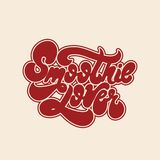 Smoothie lover. Vector handwritten lettering isolated made in 90`s style. Template for card, poster, banner, print for t-shirt, pin and badge Royalty Free Stock Photo