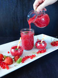 Smoothie made of red berries Royalty Free Stock Photography