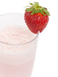 Smoothie made with strawberries Royalty Free Stock Image