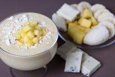 Smoothie mango and banana Stock Photo