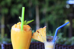 Smoothie mango and pineapple Royalty Free Stock Images