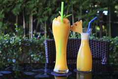 Smoothie mango and pineapple Royalty Free Stock Image