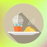 Smoothie mashed potatoes flat icon Stock Photography