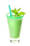 Smoothie with mint. On white background stock image