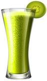 Smoothie napój z świeżym kiwi Obraz Stock
