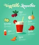 Smoothie natural de la verdura de la comida Imagenes de archivo