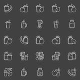 Smoothie outline icons Royalty Free Stock Photo