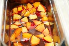 Smoothie owoc Set owocowy deser dla robi smoothie Świeżych owoc soki przy rynkiem Zdjęcia Stock