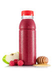 Smoothie in plastic bottle Royalty Free Stock Images