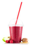 Smoothie in plastic cup Royalty Free Stock Photography
