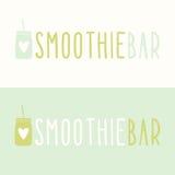 Smoothie prętowi logotypy Obraz Royalty Free