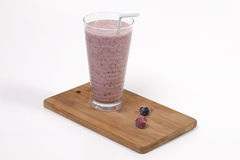 Smoothie with rasberries and blueberries Royalty Free Stock Image