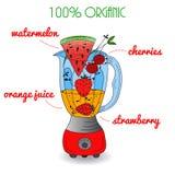 Smoothie recipe 100% organic Stock Photography