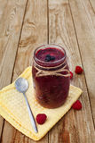 Smoothie. Red smoothie made from wild berries  on wooden background Stock Photography