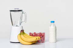 Smoothie set with blender Stock Photos