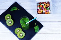 Smoothie spinach Royalty Free Stock Photography