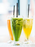 smoothie from spinach, carrots and pears Stock Image