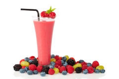 Smoothie With Straw Stock Photos