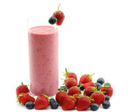 Smoothie with strawberries Royalty Free Stock Image