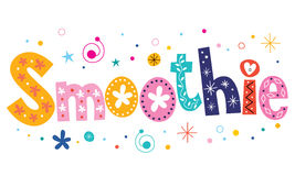 Smoothie text decorative lettering type design Stock Photography