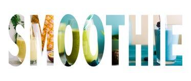 Smoothie text image stock photos