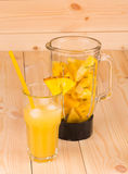Smoothie tropical d'ananas Images libres de droits