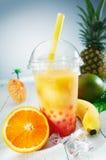 Smoothie tropical del té sano de la burbuja Fotografía de archivo libre de regalías