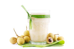 Smoothie tropical do longan Foto de Stock Royalty Free