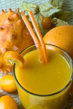 Smoothie with tropical fruits Stock Photography
