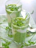 Smoothie végétal Photos stock