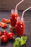 Smoothie van tomaten Stock Afbeeldingen
