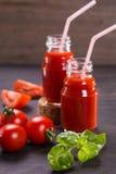 Smoothie van tomaten Stock Afbeelding