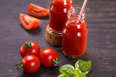 Smoothie van tomaten Stock Foto's