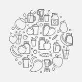 Smoothie vector round illustration Stock Photo