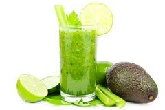 Smoothie vegetal verde Foto de archivo libre de regalías