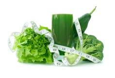 Smoothie vegetal verde imagen de archivo