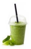Smoothie vegetal verde Imágenes de archivo libres de regalías