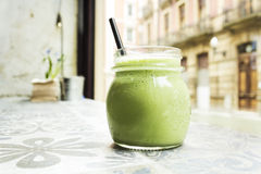 Smoothie verde Fotografia Stock Libera da Diritti