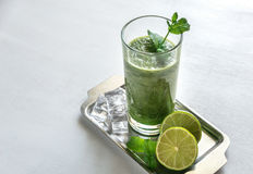Smoothie verde Foto de Stock