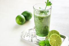 Smoothie verde Fotografia de Stock
