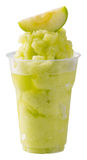 Smoothie verde de la manzana Fotografía de archivo