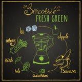 Smoothie verde stock de ilustración
