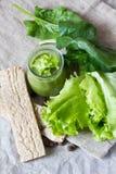 Smoothie verde sano Foto de archivo