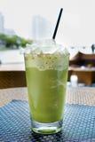 Smoothie verde sano Foto de archivo libre de regalías