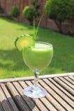 Smoothie vert sain Image libre de droits